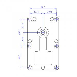 Motor reductor snek, centrale peleti,5,3rpm  ax 8,5mm3