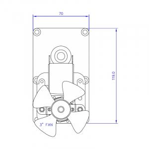 Motor reductor snek, centrale peleti,5,3rpm  ax 8,5mm1