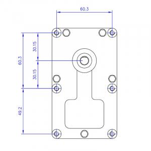 Motor reductor snek, centrale peleti, 1,5 rpm, ax 8,5mm3