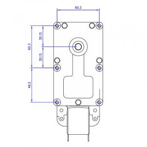 Motor reductor snek, centrale peleti, 3 rpm, ax 8,5mm2