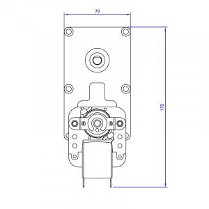Motor reductor snek, centrale peleti, 3 rpm, ax 8,5mm3