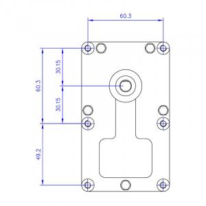 Motor reductor snek, centrale peleti, 2 rpm, ax 8,5mm1