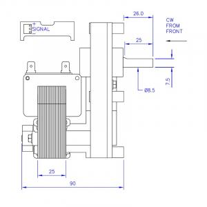 Motor reductor snek, centrale peleti, 2 rpm, ax 8,5mm3