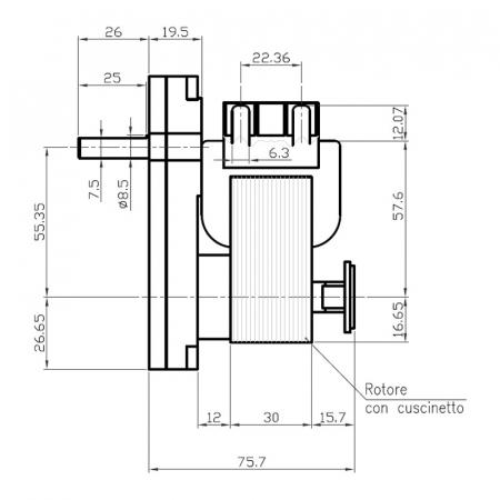 Motor reductor snek, centrale peleti, 2  rpm ax 8,5mm  K9115062 [1]