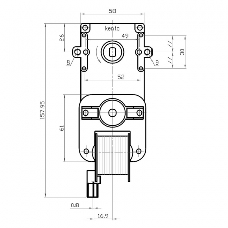 Motor reductor snek, centrale peleti,2 rpm fara ax K9117057 [1]