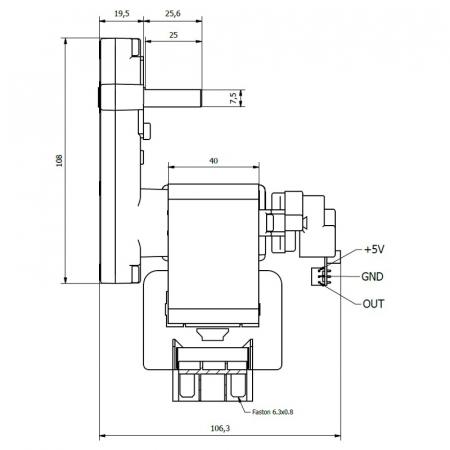 Motor reductor snek, centrale peleti,3 rpm ax 8,5mm K91171201