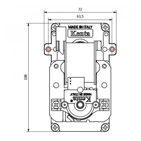 Motor reductor snek, centrale peleti,1,5 rpm ax 8,5mm cu encoder1