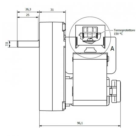 Motor reductor snek, centrale peleti, 4  rpm ax 8,5mm [1]