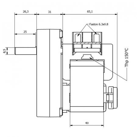 Motor reductor snek, centrale peleti,5 rpm ax 9,5mm Kenta  K9177326 [2]