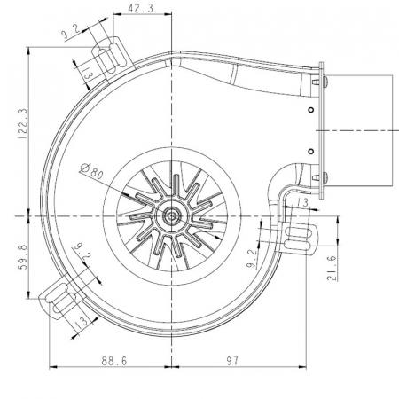 Extractor - extractor de fum pentru sobele cu peleți.1