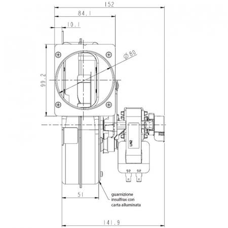 Extractor - extractor de fum pentru sobele cu peleți.2