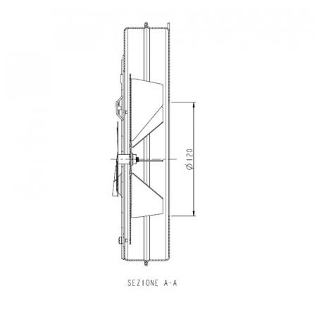 Extractor - extractor de fum pentru sobele cu peleți.3