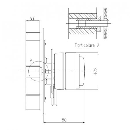 Extractor de fum  pentru sobe cu peleți , motor ECOFIT 2RECA3.1