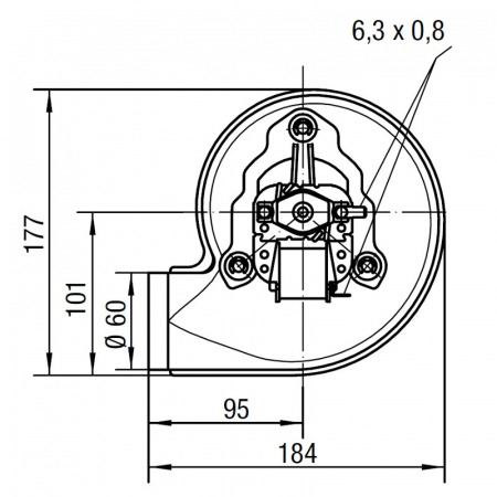 Extractor de fum RLH120 / 3800A17-3038LH-4631