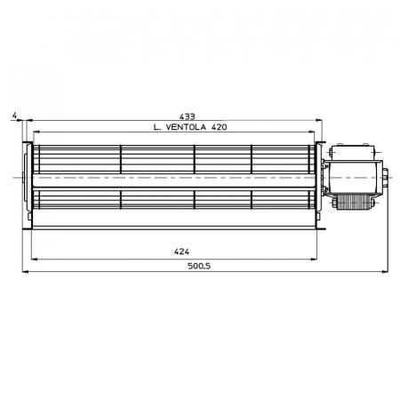 Ventilator tangențial pentru semineu cu peleți TGA 60 / 1-420 / 30 EMMEVI - FERGAS 1146121