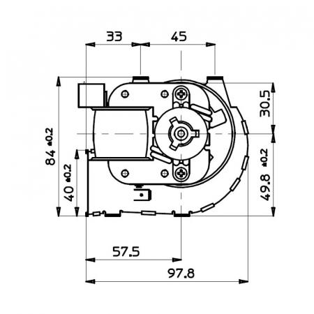 Ventilator tangențial pentru semineu cu peleți TGA 60 / 1-420 / 30 EMMEVI - FERGAS 1146122