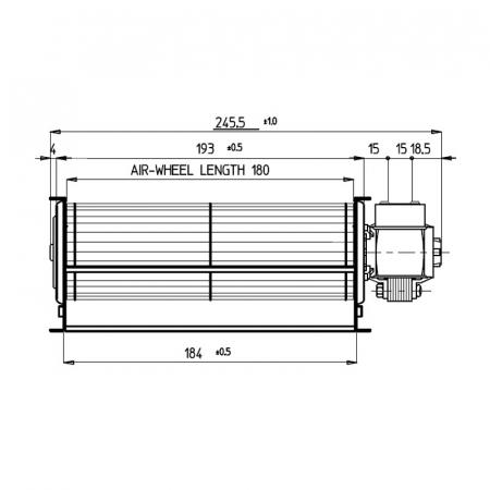 Ventilator tangențial pentru semineu cu peleți TGA 60 / 1-180 / 15 EMMEVI - FERGAS 1128301