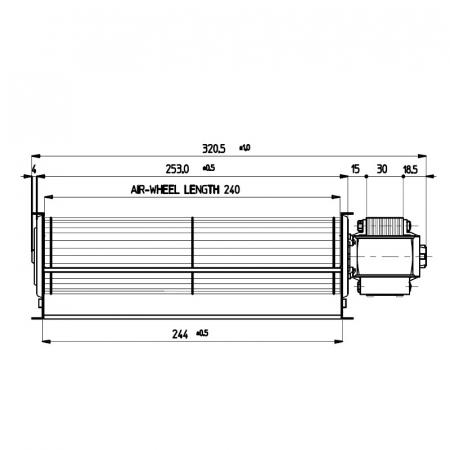 Ventilator tangențial pentru șemineu cu peleți TGA 60/1 - 240/20 - FERGAS 1131361