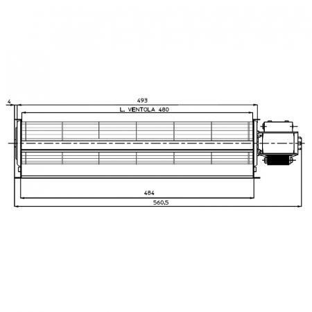 Ventilator tangențial pentru semineu cu peleți TGA 60 / 1-480 / 30 EMMEVI - FERGAS 1150071