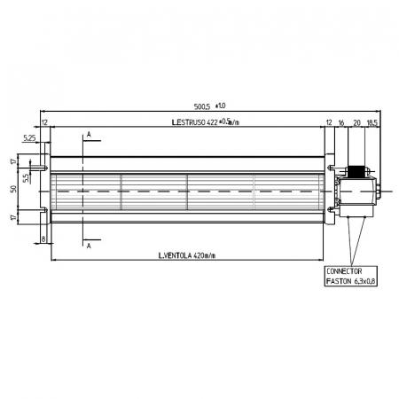 Ventilator tangențial pentru semineu cu peleți TGA 60 / 3-420 / 20 EMMEVI - FERGAS 1385511