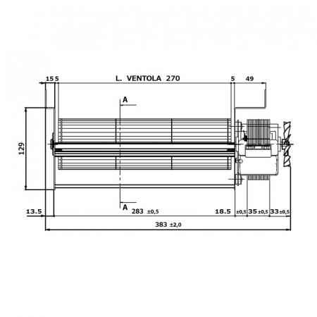 Ventilator tangential  FERGAS 158201 [2]
