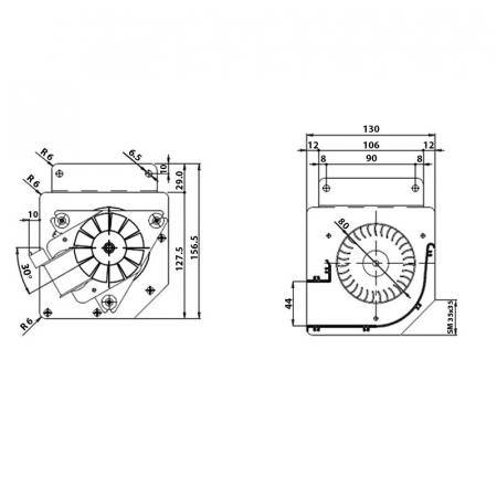Ventilator tangential  FERGAS 158201 [1]