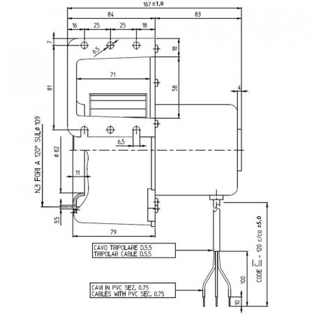 Ventilator centrifug Fergas 209108  pentru sobe cu peleți.(830001710)1