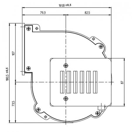 Ventilator centrifug Fergas 209108  pentru sobe cu peleți.(830001710)2