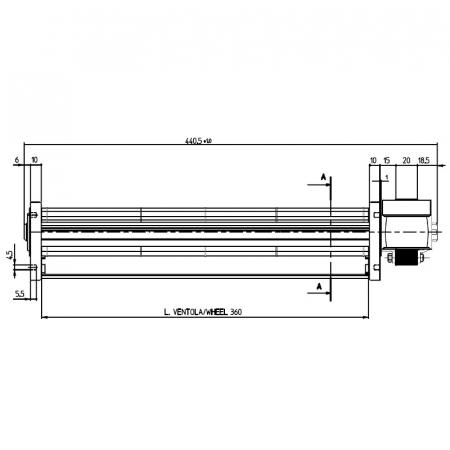 Ventilator tangențial   diametru 45 FERGAS 101806 [1]