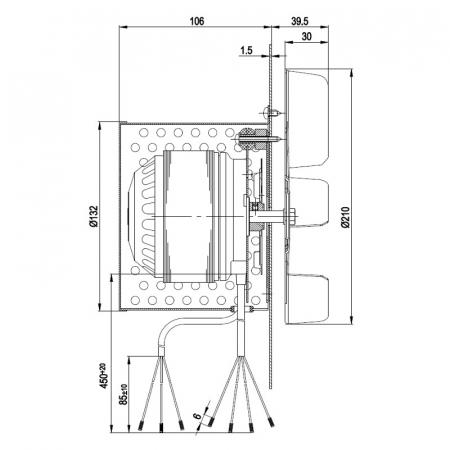 Extractor de fum R2E210-AA34-051