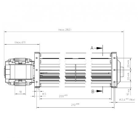 Ventilator tangențial pentru semineu cu peleți [2]