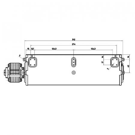 Ventilator tangențial pentru semineu cu peleți - FERGAS 1171193
