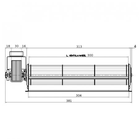 Ventilator tangențial pentru semineu cu peleți - FERGAS 1171192