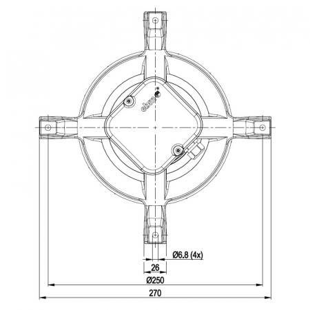 Extractor de fum pentru sobe de peleți  EBM R2E180-AH05-27 [1]