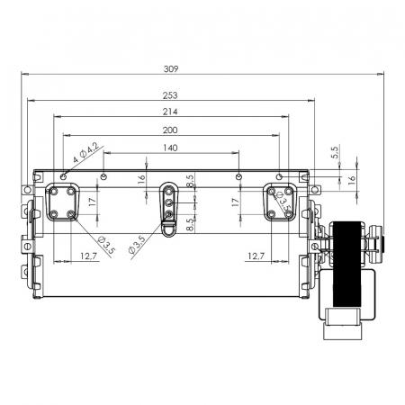 Ventilatorul tangențial pentru semineu cu peleți TRIAL THS24B6-026 - TFA661-D6 [1]