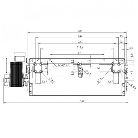 Ventilator tangențial pentru semineu cu peleți Fergas 1168201