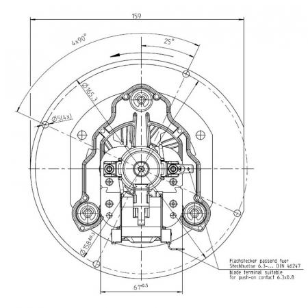 Extractor de fum 152 mm3