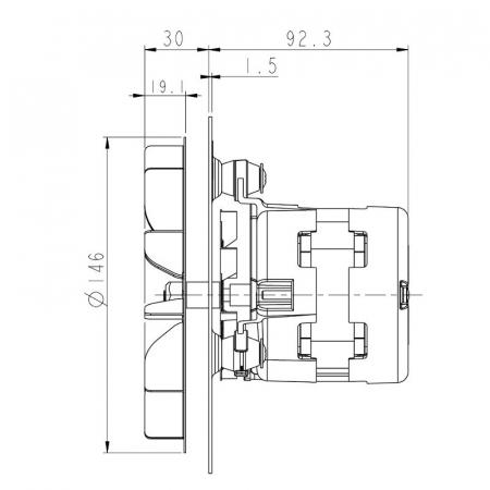Ventilator extractor de fum  PL20CE01202