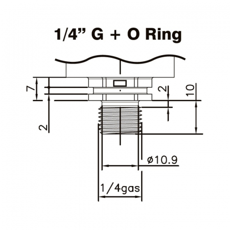 "Traductor, senzor de presiune 1/4 ""  centrale peleti [1]"