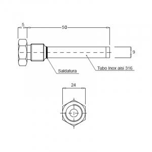 Suport sonda fum1