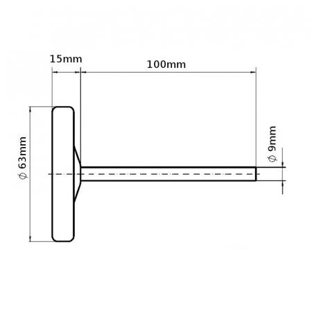 Termometru pentru cuptoare cu sonda liniara 500 ° C [1]