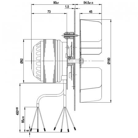 Extractor de fum pentru sobe de peleți. [0]