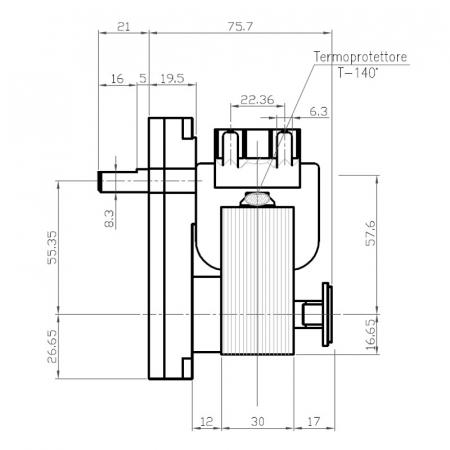 Motor reductor snek, centrale peleti,2 rpm ax 9,5mm K91150682