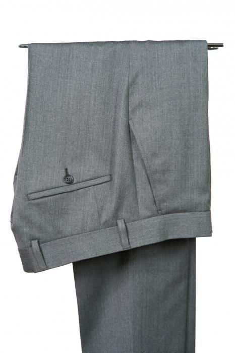 Pantaloni slim din lana gri [0]