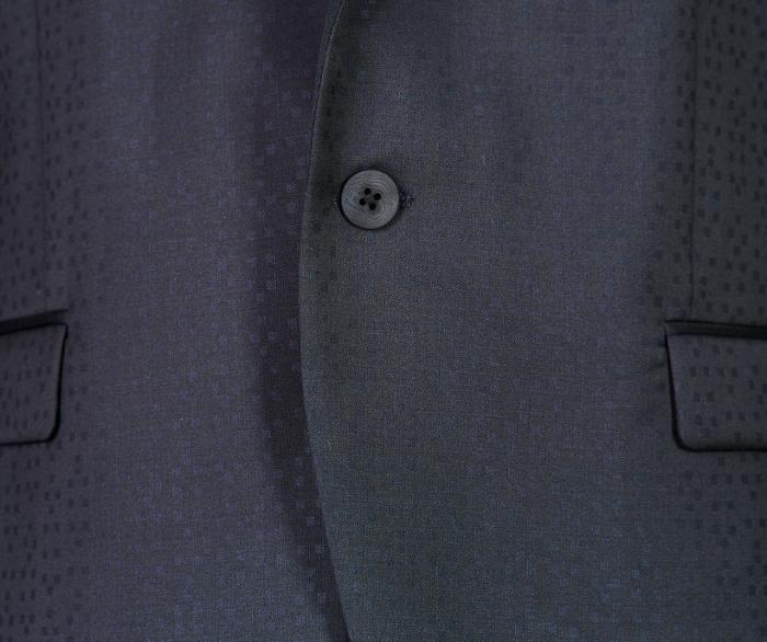 Sacou smoching bleumarin cu negru [2]