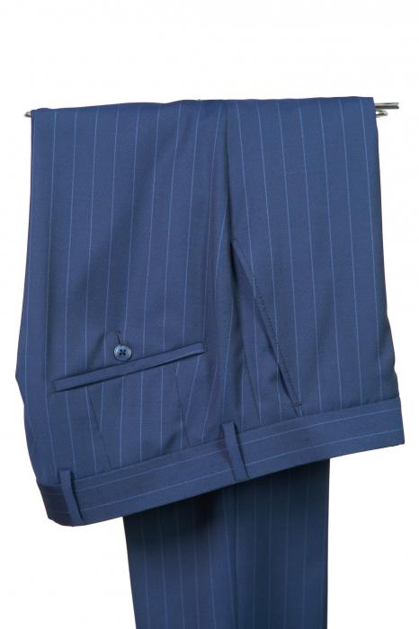 Costum barbati bleumarin din lana [3]