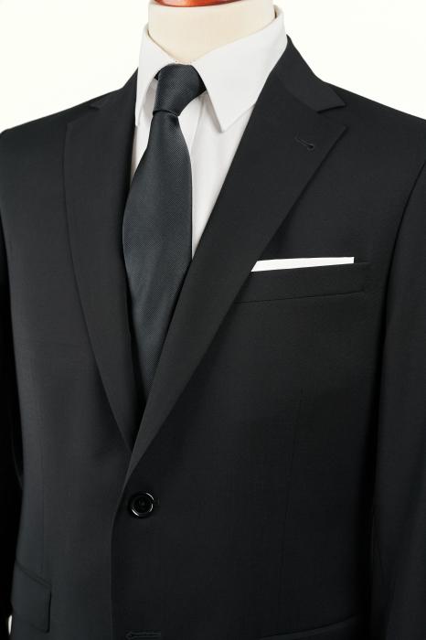 Costum barbati negru din lana [2]