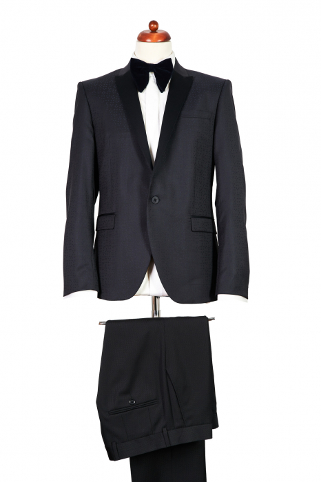 Sacou smoching bleumarin cu negru [0]