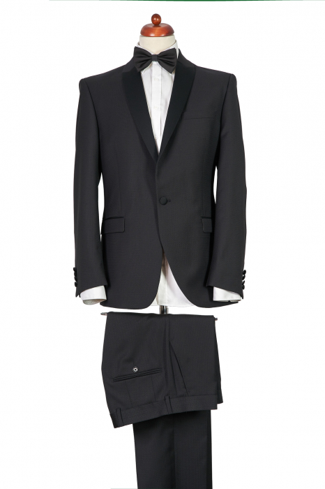 Costum de ceremonie tuxedo negru [0]