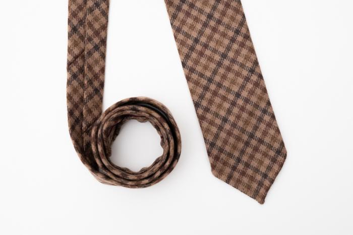 Cravată handmade cașmir model carouri [0]